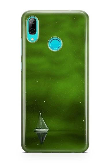 Lopard P Smart 2019 Kılıf Silikon Arka Kapak Koruyucu Yeşil Gemi Desenli Full HD Baskılı Renkli